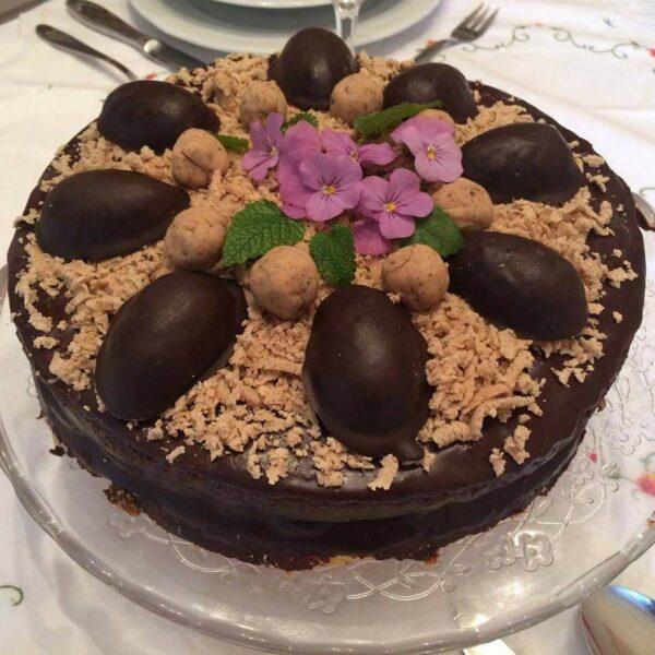 gesztenyés csokis torta